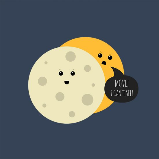 Obscured Funny Eclipse Pun Design Of The Sun And The Moon
