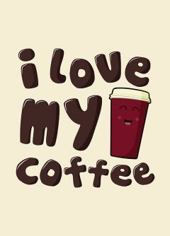Longtime Coffee Love - Poster