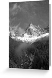 Chamonix Valley 1 - Greeting Card