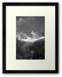 Chamonix Valley 1 - Framed Print