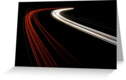 The Speed of Light - Greeting Card