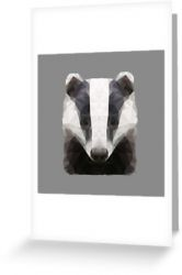 The Badger - Greeting Card