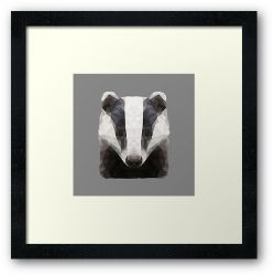 The Badger - Framed Print