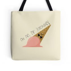 Oh no, my ice cream! - Tote Bag