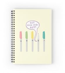 Pens Gone Wild - Notebook