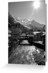 Chamonix Bridge - Greeting Card