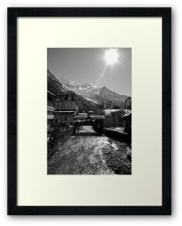 Chamonix Bridge - Framed Print