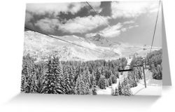Meribel II - Greeting Card
