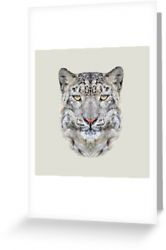 The Snow Leopard - Greeting Card
