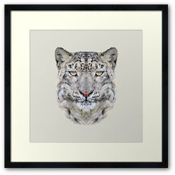 The Snow Leopard - Framed Print