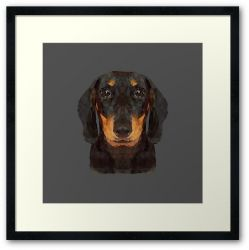 The Miniature Dachshund - Framed Print